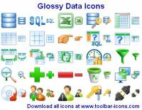 Glossy Data Icons screenshot
