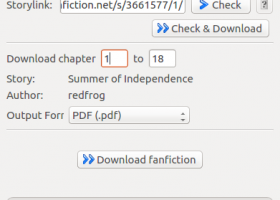 FanFictionDownloader screenshot
