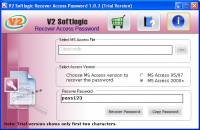 Access Database Password Recovery screenshot