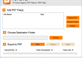 Export Outlook Mailbox to PDF screenshot