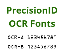 OCR-A and OCR-B Fonts by PrecisionID screenshot