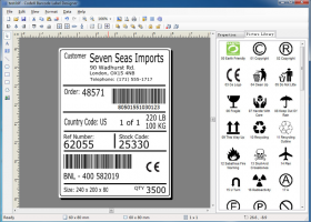 CodeX Barcode Label Designer screenshot