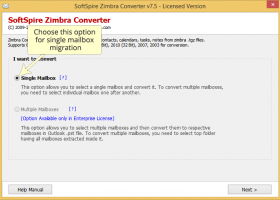 Migration of Zimbra TGZ files to PST screenshot