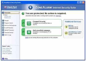 ZoneAlarm Security Suite 2010 screenshot