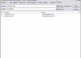 Batch DOCX to DOC Converter screenshot
