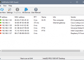 SoftPerfect WiFi Guard screenshot