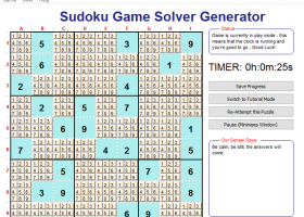 Sudoku Game Solver Generator for Windows screenshot