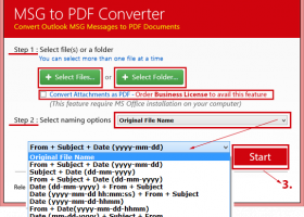 Microsoft Outlook to PDF screenshot