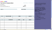 Hourly Invoice Form screenshot