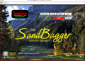 The SandBagger Golf Event Organizer screenshot
