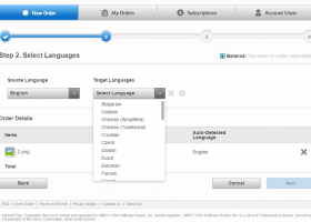 Xerox® Easy Translator Service screenshot