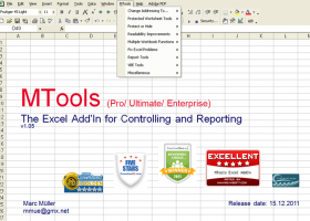 MTools Pro Excel Add in screenshot