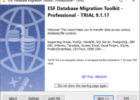 ESF Database Migration Toolkit Pro screenshot