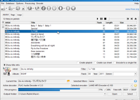 fre:ac - free audio converter screenshot
