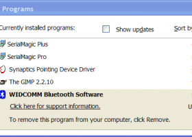 WIDCOMM Bluetooth screenshot