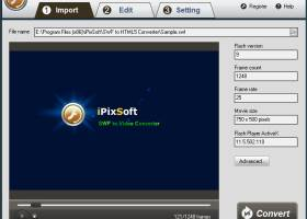 iPixSoft SWF to HTML5 Converter screenshot