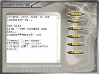 VeryPDF Free Text to PDF Converter screenshot
