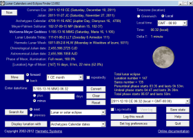 Lunar Calendars and Eclipse Finder screenshot