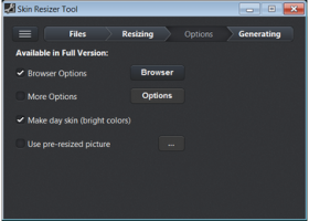 Skin Resizer Tool screenshot