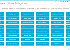Ultimate Settings Panel screenshot