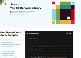 The C# Barcode Library screenshot