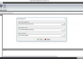 MySQL Database File Recovery screenshot