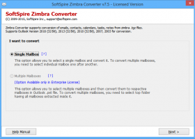 Software4Help Zimbra Converter screenshot