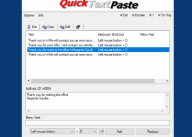QuickTextPaste screenshot