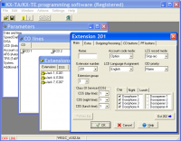 KX-TA Programmator screenshot
