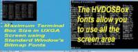 HVDOSBox - Windows Terminal Fonts screenshot