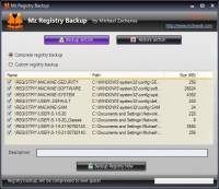 Mz Registry Backup screenshot