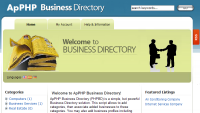ApPHP Business Directory script screenshot