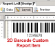 2D Barcode Custom Report Item